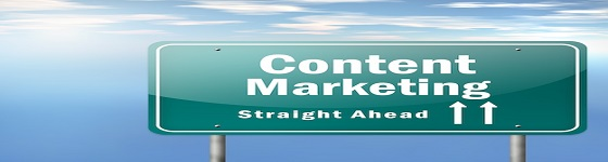 "Highway Signpost ""Content Marketing"""