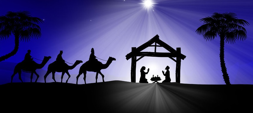 34260645 - traditional christian christmas nativity scene with the three wise men